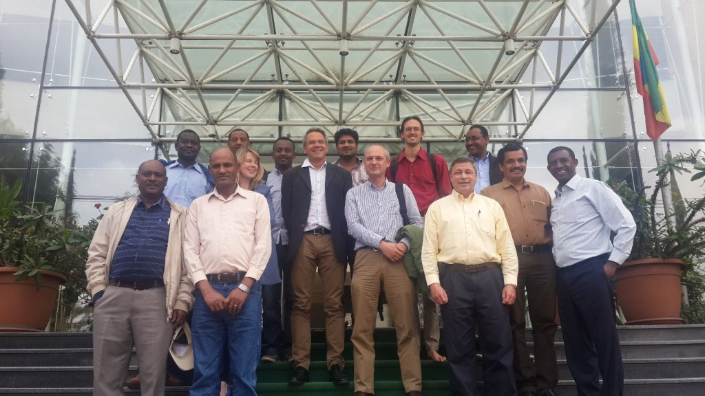Participants at the CIMMYT workshop.